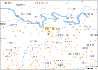 map of Brvnik