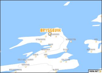map of Bryggevik