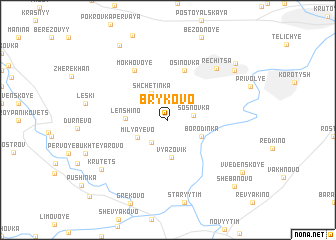 map of Brykovo