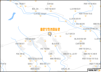 map of Brynmawr