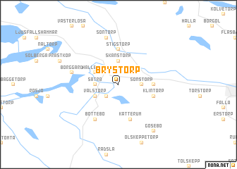 map of Brystorp