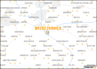 map of Brzeczkowice