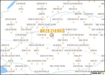 map of Brzezienko