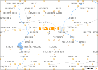 map of Brzezinka