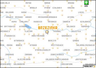 map of Brzezinka