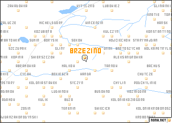 map of Brzezino