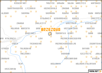 map of Brzezowa