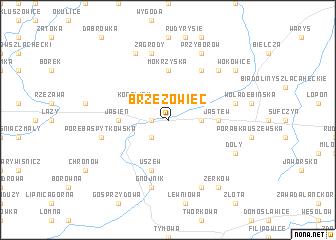 map of Brzezowiec