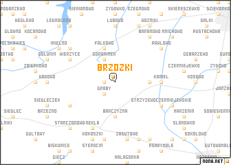map of Brzózki