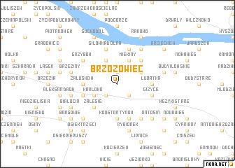 map of Brzozowiec