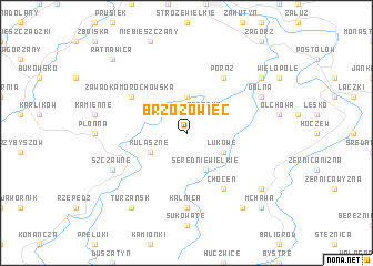map of Brzozowiec