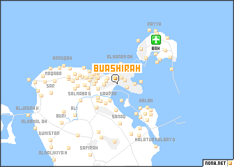 map of Bū 'Ashīrah