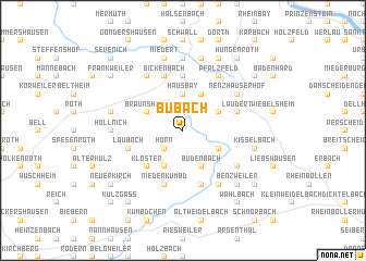 map of Bubach