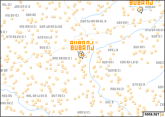 map of Bubanj