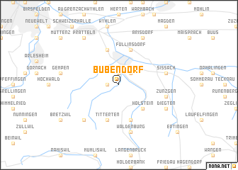 map of Bubendorf