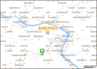map of Bubenheim