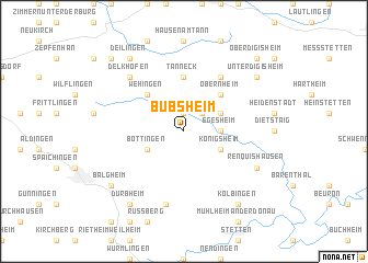 map of Bubsheim