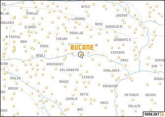 map of Bučane