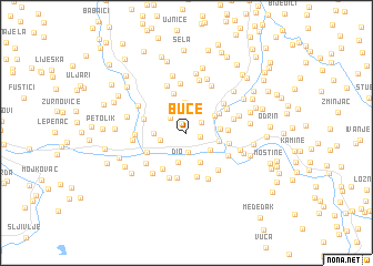 map of Buče