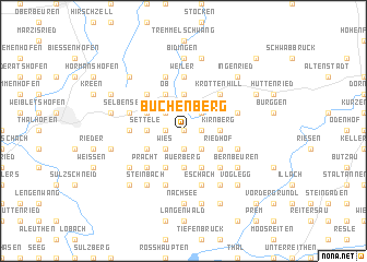 map of Buchenberg