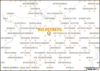 map of Büchenberg