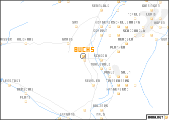 map of Buchs