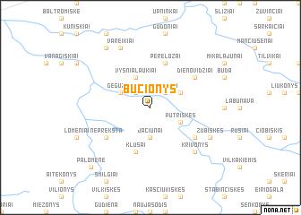 map of Bučionys