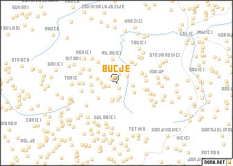 map of Bučje