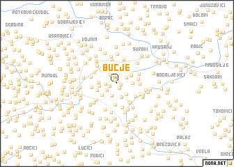 map of Bučje