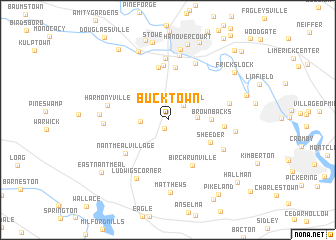 map of Bucktown