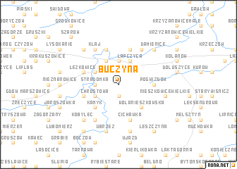 map of Buczyna