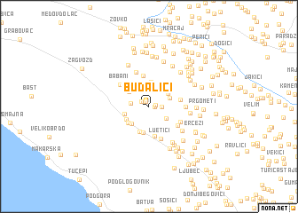 map of Budalići