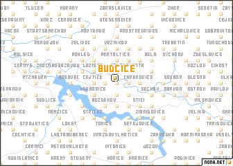 map of Budčice