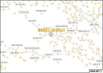 map of Budelj Donji