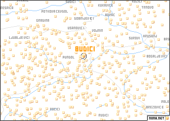 map of Budići