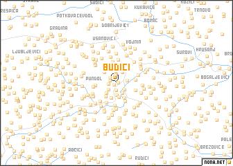 map of Budići