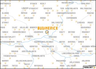 map of Budiměřice