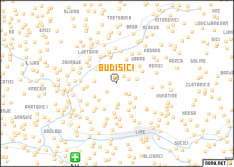 map of Budišići
