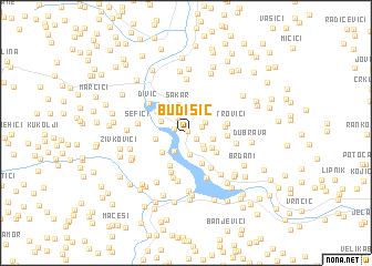 map of Budišić