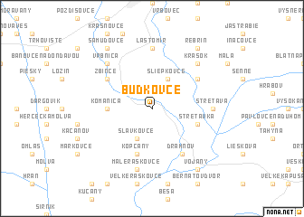 map of Budkovce