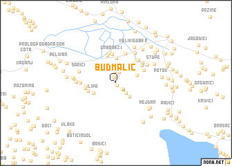 map of Budmalić