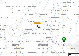 map of Budrie