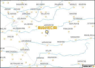 map of Būdviečiai