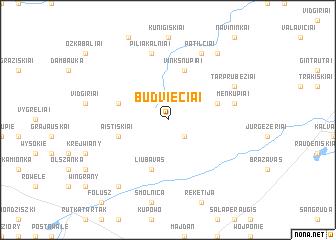 map of Būdviečiai