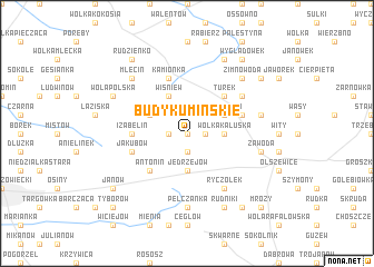map of Budy Kumińskie