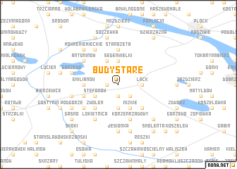 map of Budy Stare