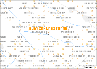 map of Budy Zaklasztorne