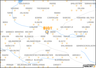 map of Budy
