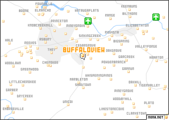 map of Buffalo View