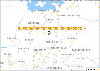 map of Buford Horizons Mobile Home Park